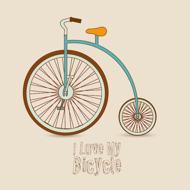 Illustrazione di biciclette Vettore Premium