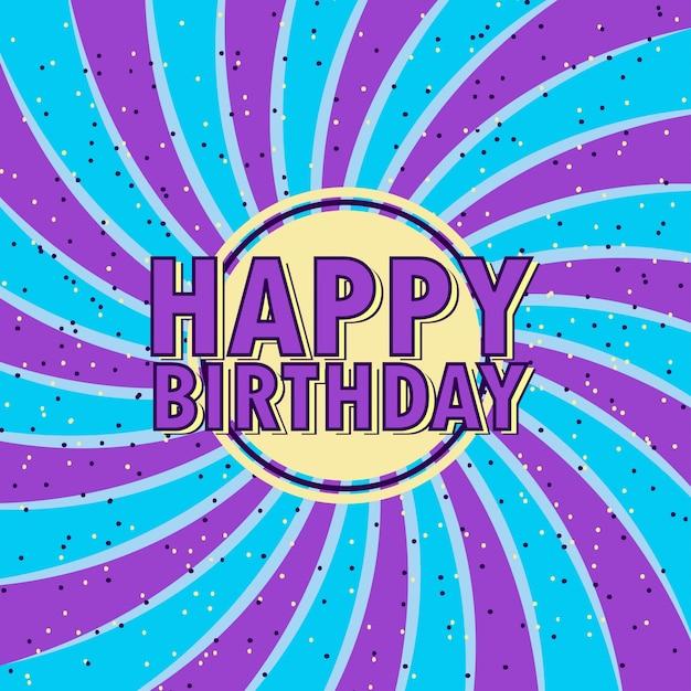 Illustrazione Di Buon Compleanno Con Palloncino Scaricare Vettori