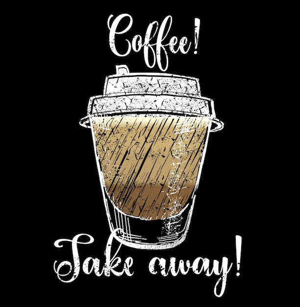 Illustrazione di caffè da togliere Vettore gratuito
