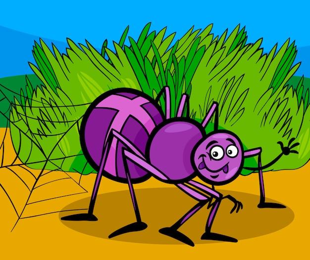 Illustrazione di cartone animato insetto ragno croce scaricare
