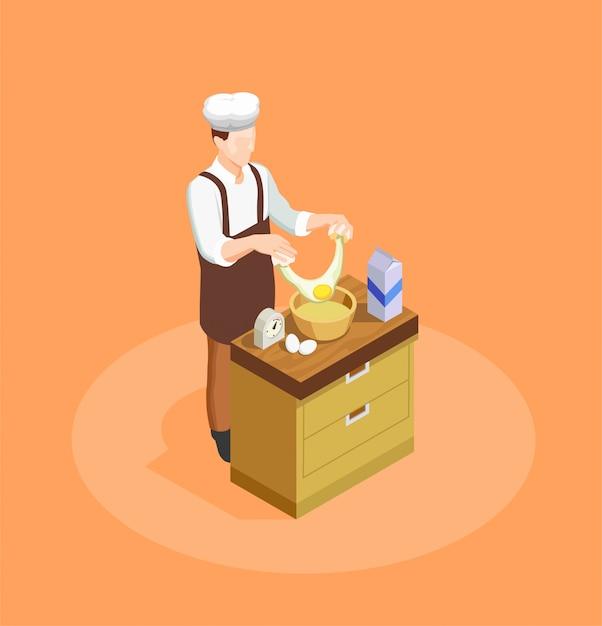 Illustrazione di chef di pasticceria e panetteria Vettore gratuito