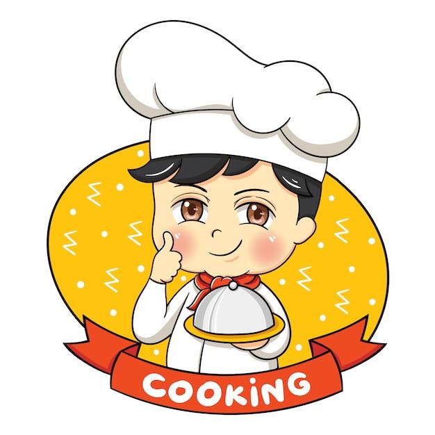 Illustrazione di chef personaggio maschile Vettore Premium