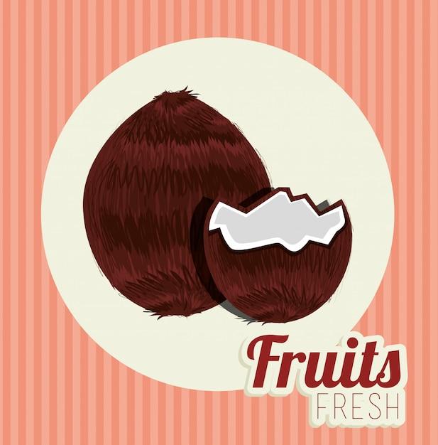Illustrazione di cibo sano di frutta Vettore gratuito