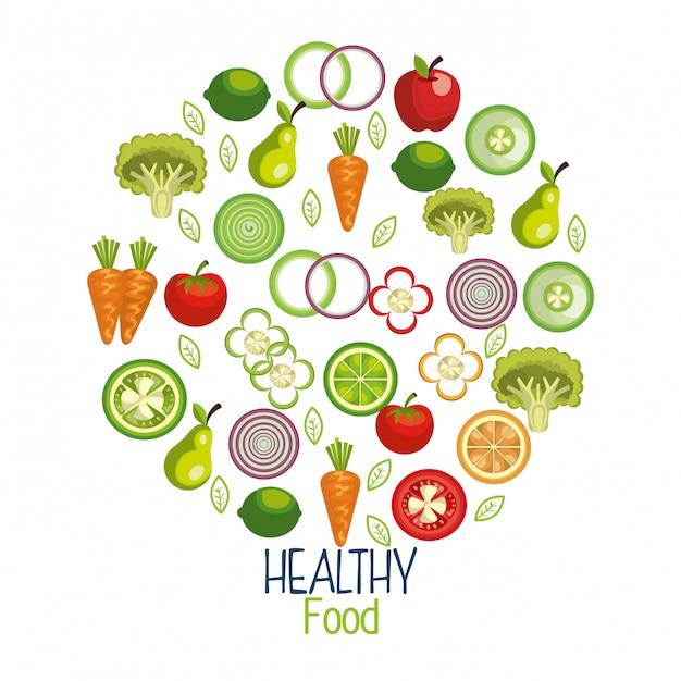 Illustrazione di cibo sano Vettore gratuito