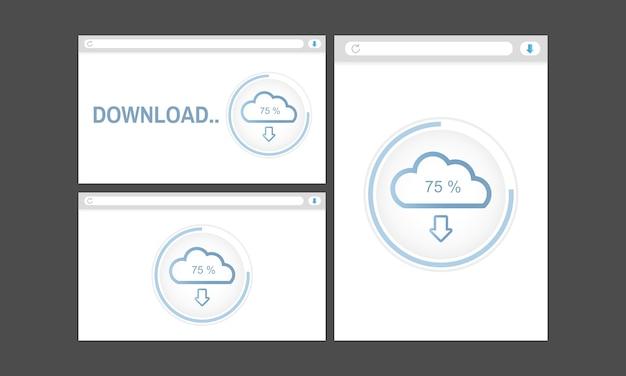 Illustrazione di cloud storage Vettore gratuito