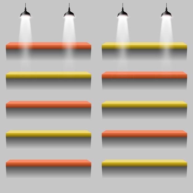 Illustrazione di colore del supporto di illuminazione interna Vettore Premium