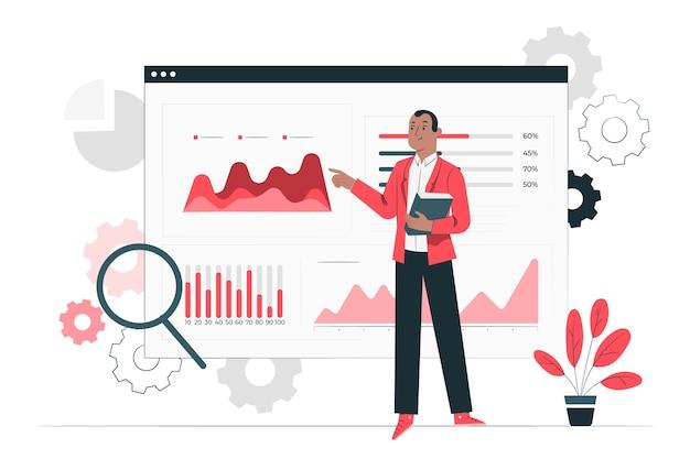 Illustrazione di concetto di analisi di installazione Vettore gratuito