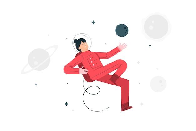 Illustrazione di concetto di astronauta Vettore gratuito