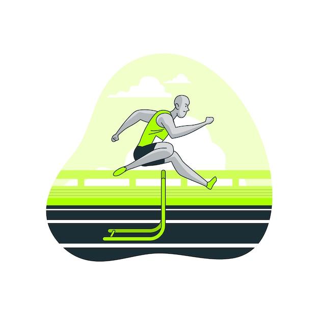 Illustrazione di concetto di atletica Vettore gratuito