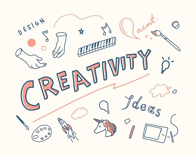 Illustrazione di concetto di creatività e innovazione Vettore gratuito