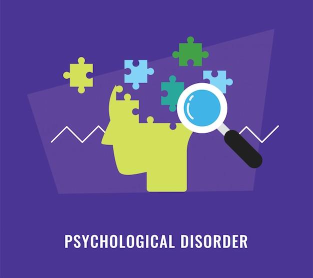 Illustrazione di concetto di disturbo psicologico Vettore Premium