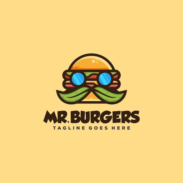 Illustrazione di concetto di hamburger Vettore Premium
