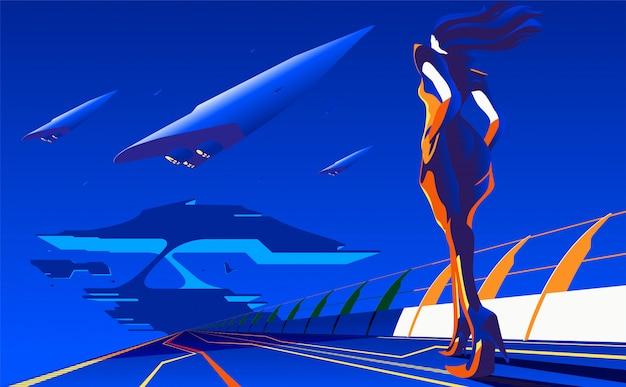 Illustrazione di concetto di nuovo viaggio Vettore Premium
