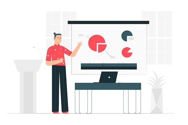 Illustrazione di concetto di presentazione Vettore gratuito
