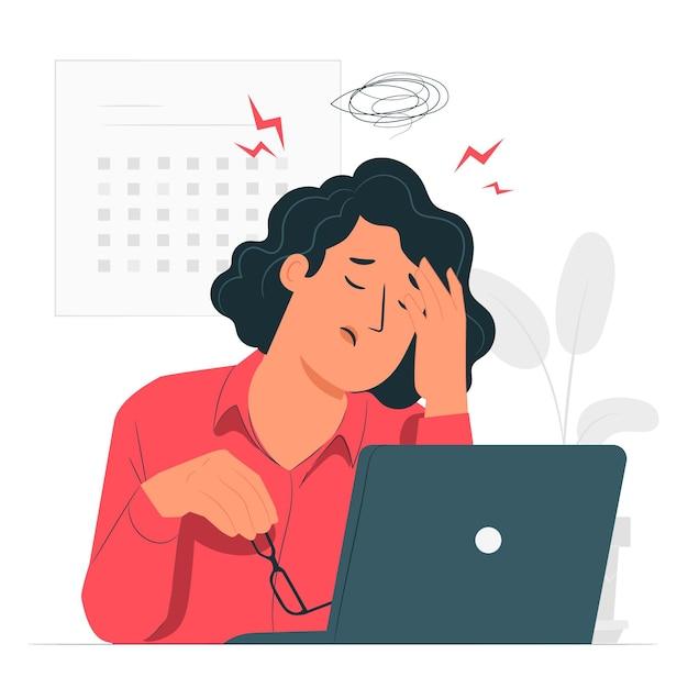 Illustrazione di concetto di stress Vettore gratuito