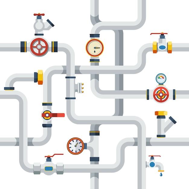 Illustrazione di concetto di tubi Vettore gratuito