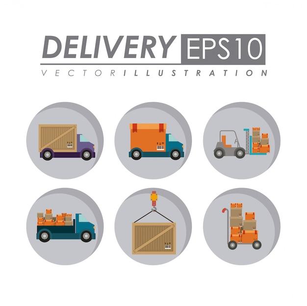 Illustrazione di consegna. Vettore Premium