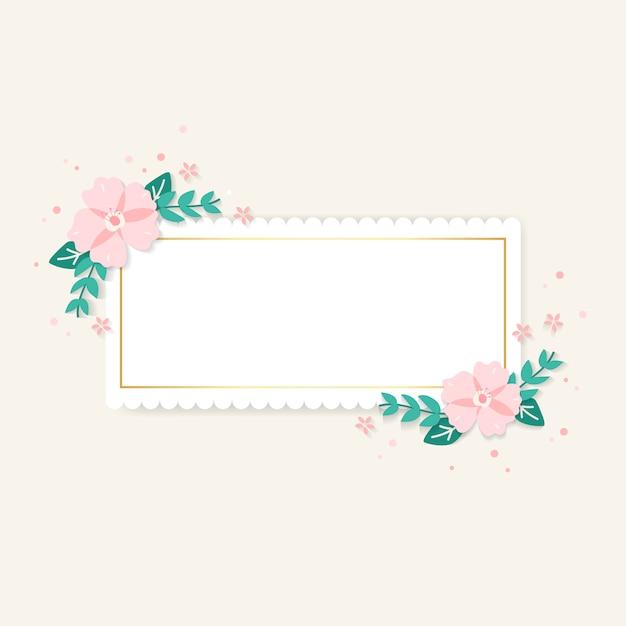 Illustrazione di cornice floreale di primavera Vettore gratuito