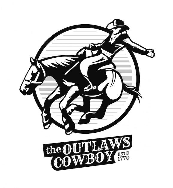 Illustrazione di cowboy fuorilegge Vettore Premium