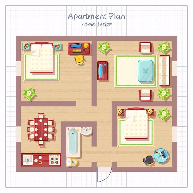 Illustrazione di design per la casa Vettore gratuito