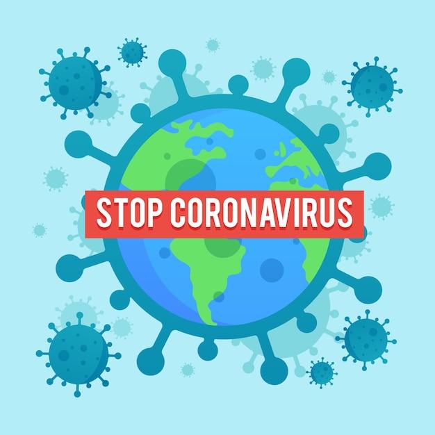 Illustrazione di diffusione coronavirus design piatto Vettore gratuito