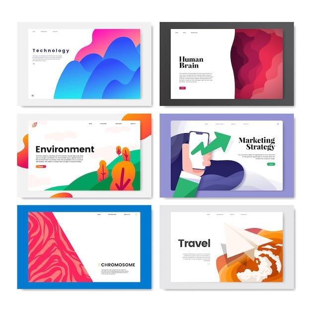Illustrazione di disegno del modello colorato flyer Vettore gratuito