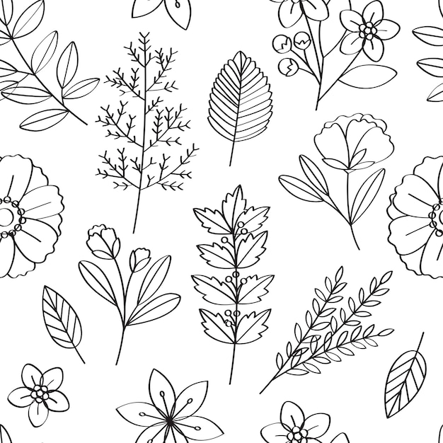 Illustrazione di disegno del modello di vettore floreale Vettore gratuito