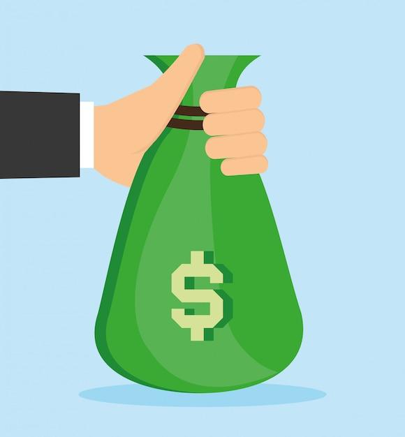 Illustrazione di disegno vettoriale di denaro Vettore Premium