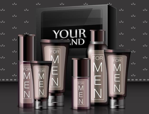 Illustrazione di diversi tipi di cosmetici realistici Vettore Premium
