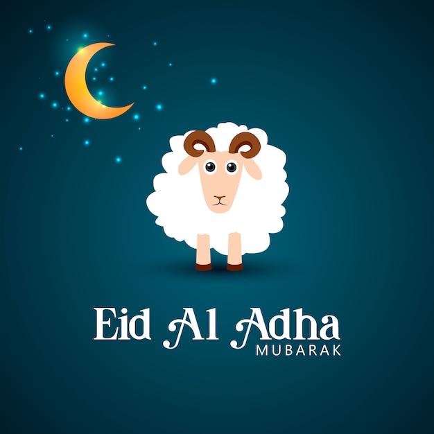 Illustrazione di eid al adha capra Vettore Premium