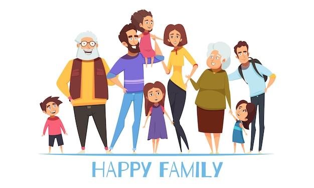 Illustrazione di famiglia felice Vettore gratuito