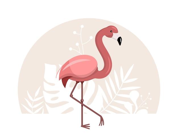 Illustrazione di fenicottero rosa Vettore Premium