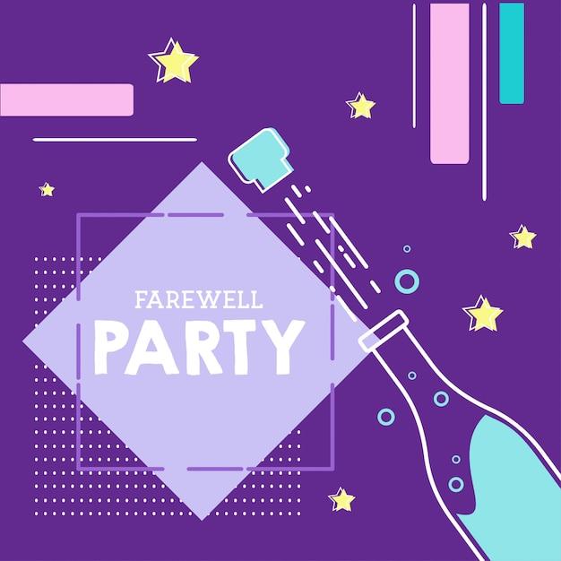 Illustrazione di festa d'addio Vettore Premium