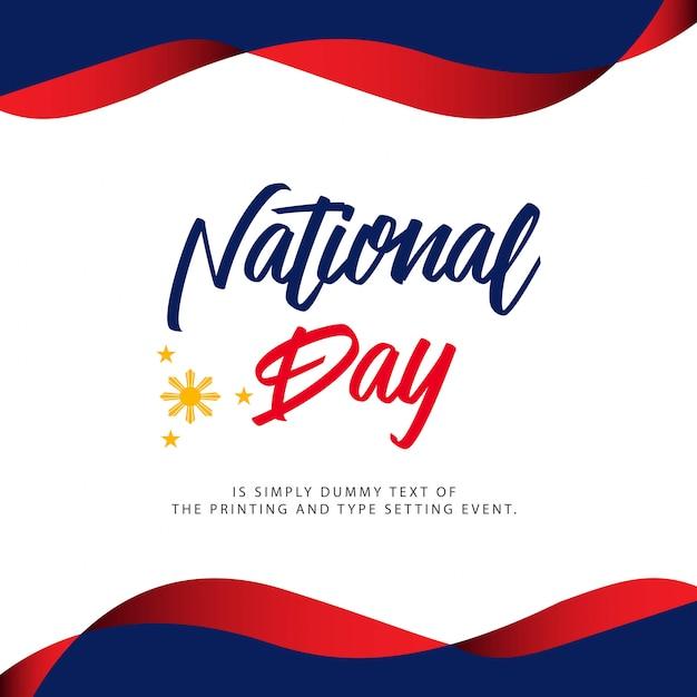 Illustrazione di festa nazionale delle filippine Vettore Premium