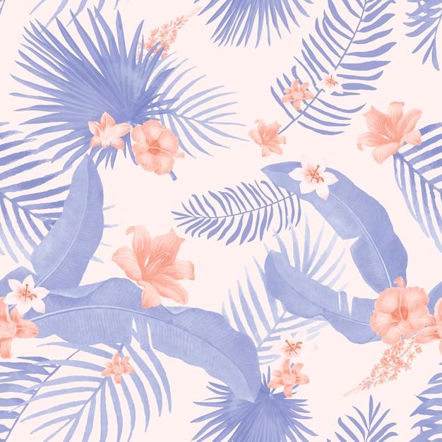 Illustrazione di fogliame tropicale Vettore gratuito