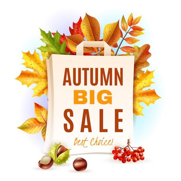 Illustrazione di foglie d'autunno Vettore gratuito