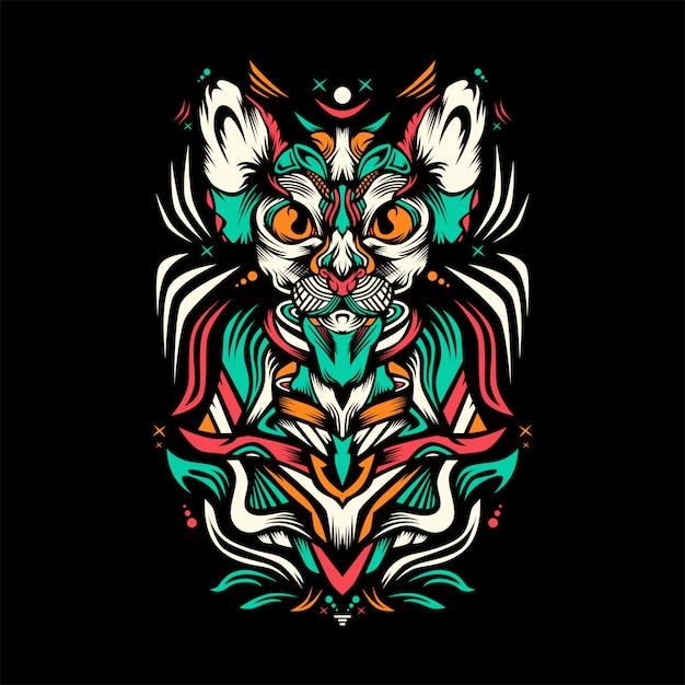 Illustrazione di gatto reale Vettore Premium