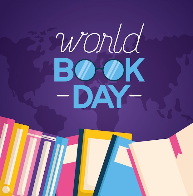 Illustrazione di giornata mondiale del libro Vettore gratuito