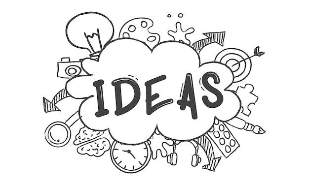 Illustrazione di idee di lampadina Vettore gratuito