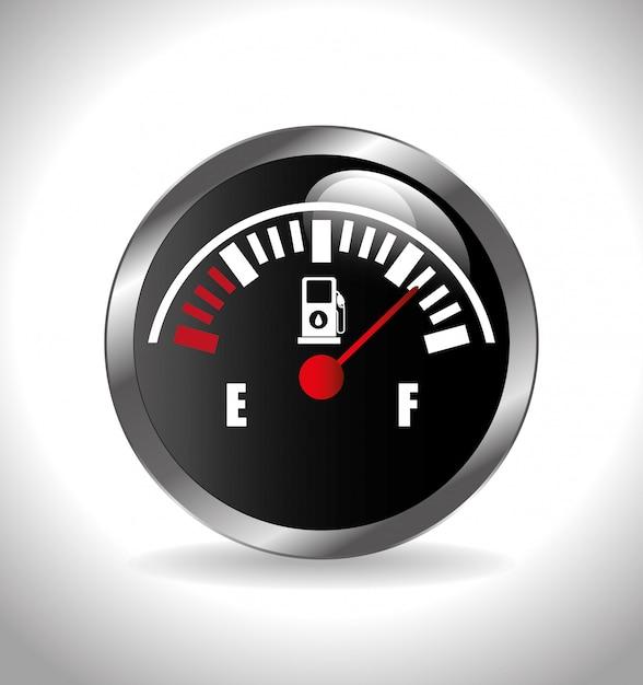 Illustrazione di indicazione del carburante Vettore gratuito