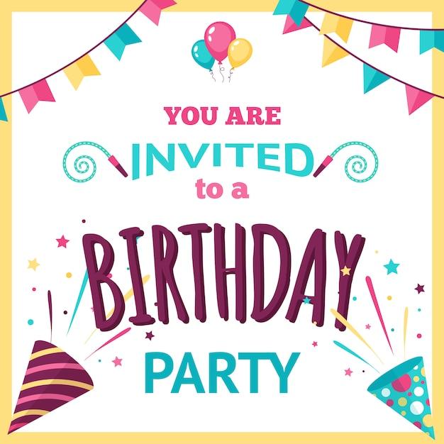 Illustrazione di invito a una festa Vettore gratuito