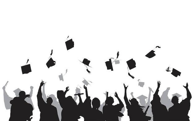 Illustrazione di laureati Vettore gratuito