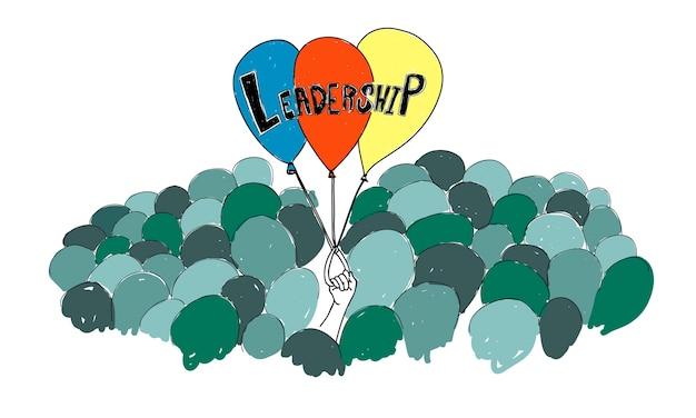 Illustrazione di leadershiptship Vettore gratuito