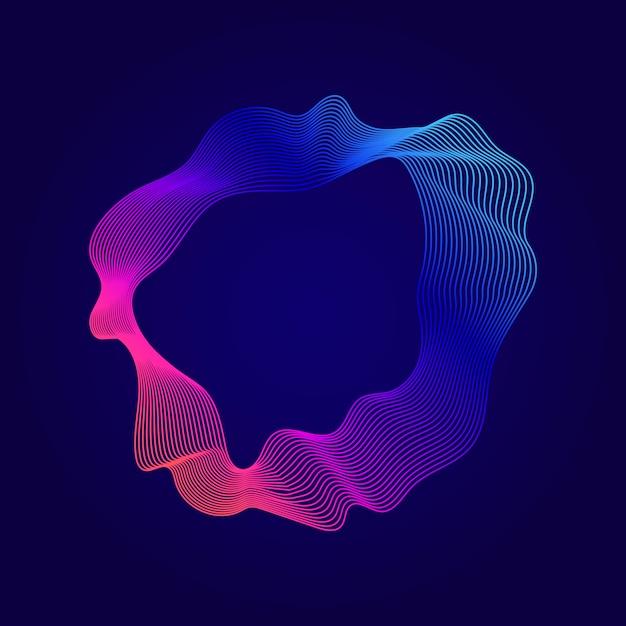 Illustrazione di linee di contorno astratto colorato Vettore gratuito