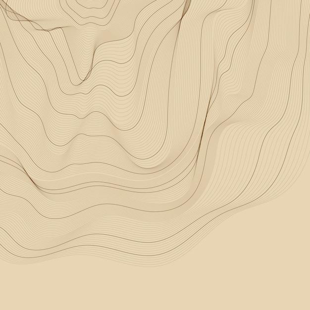 Illustrazione di linee di contorno astratto marrone Vettore gratuito