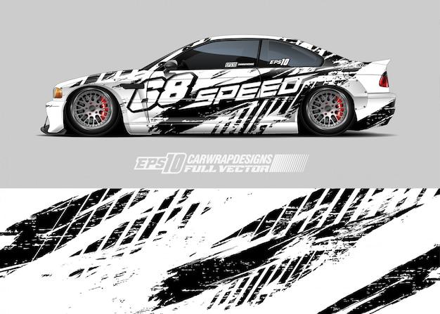 Illustrazione di livrea auto Vettore Premium