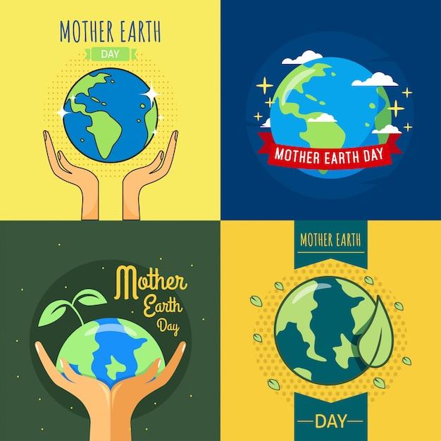 Illustrazione di mamma earth day Vettore Premium