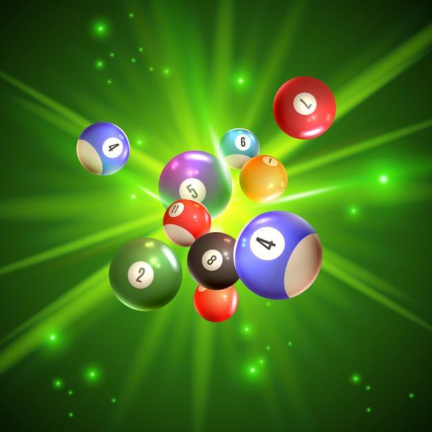 Illustrazione di palle da bingo Vettore gratuito