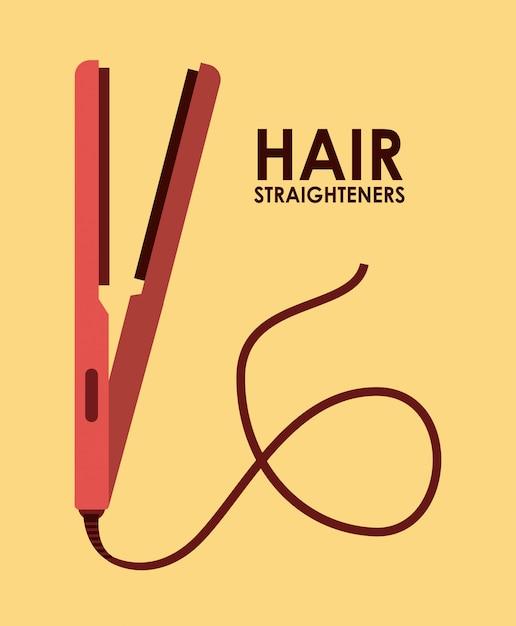 Illustrazione di piastre per capelli Vettore gratuito