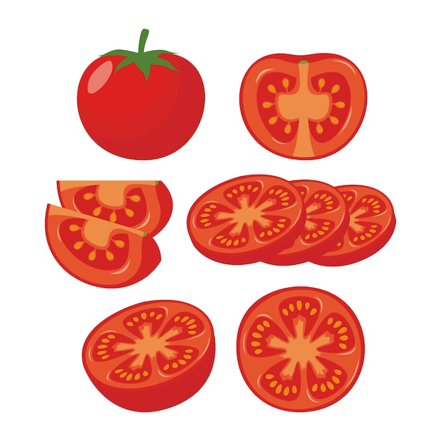 Illustrazione di pomodoro Vettore Premium